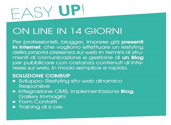 siti web - easyup - ComeUP